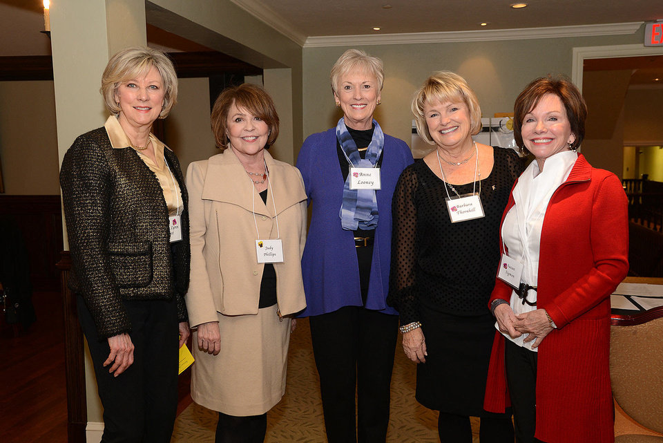 Photo - Mary Lynn West, Judy Phillips, Anne Looney, Barbara Thornhill, Susan Sigmon. Photo by David Faytinger, for The Oklahoman
