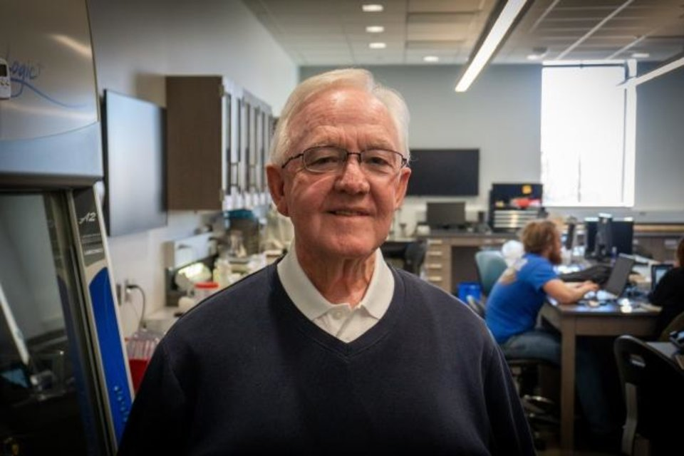 Photo -  Rex Tullis, retired professor from Southern Nazarene University, had excellent results from treatments using Wei Chen's laser Immunotherapy procedure. [PROVIDED]