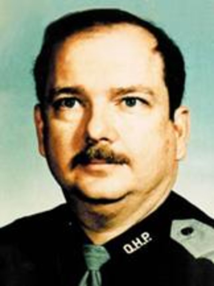 MUG: Trooper Duane Grundy  Grundy joined the OHP in 1976.  Near 2:10 a.m. on April 11, Trooper Grundy was on routine patrol on the Will Rogers Turnpike in far northeastern Oklahoma, near the Craig-Ottawa County line. Grundy effected a traffic stop of a vehicle for a burned out headlamp. As he exited his unit and walked up to the vehicle to write down its tag number he was struck by a pickup truck driven by 82 year-old James A. Grundy (not related) of Joplin, Missouri. The force of the impact knocked him into the vehicle he had stopped. He was pronounced dead at the scene.