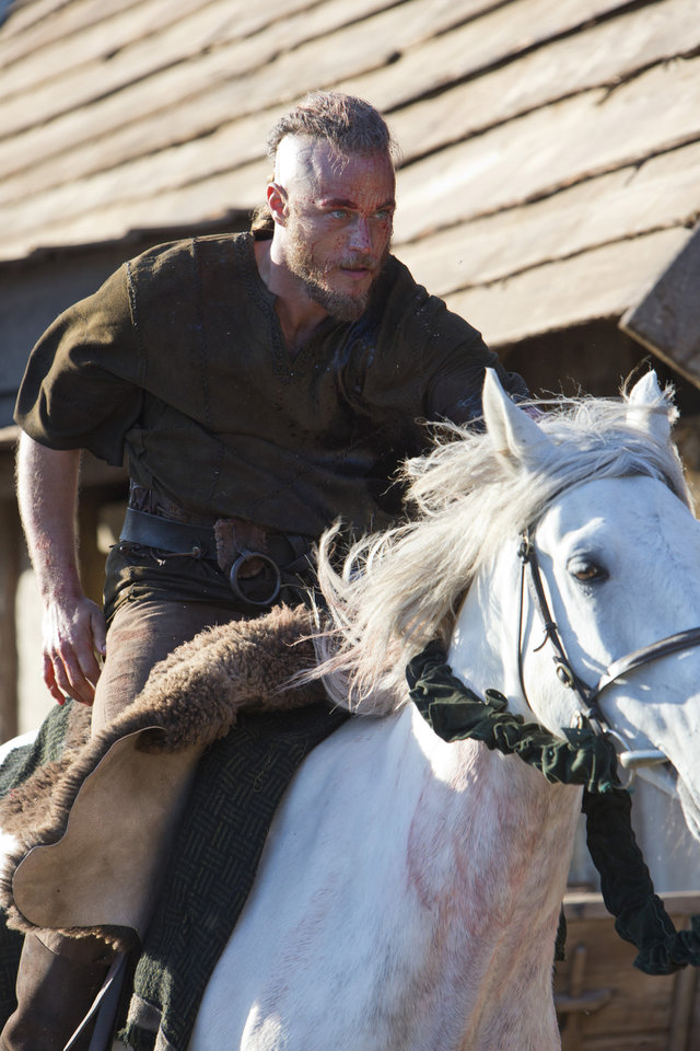 "Ragnar (Travis Fimmel) in a scene from ""Vikings"" - Photo by Jonathan Hession / HISTORY Copyright 2011"