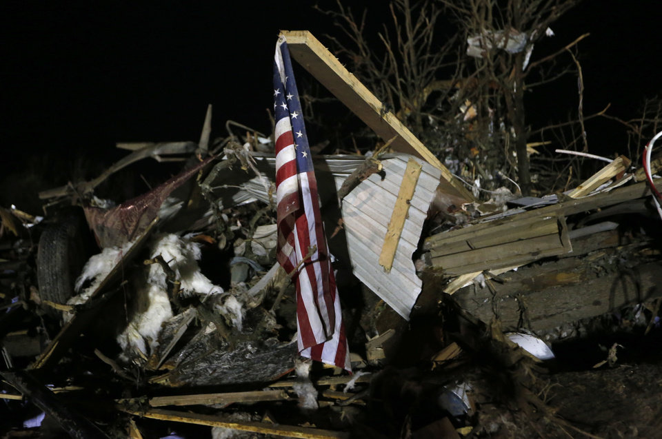 Photo - Damage is pictured at Steelman Estates trailer park in Bethel Acres Okla., following a deadly tornado, Sunday, May 19, 2013. Photo by Sarah Phipps, The Oklahoman