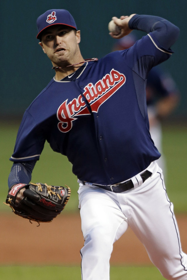 Photo -   Cleveland Indians starting pitcher David Huff delivers against the Minnesota Twins in the first inning of a baseball game, Tuesday, Sept. 18, 2012, in Cleveland. (AP Photo/Mark Duncan)