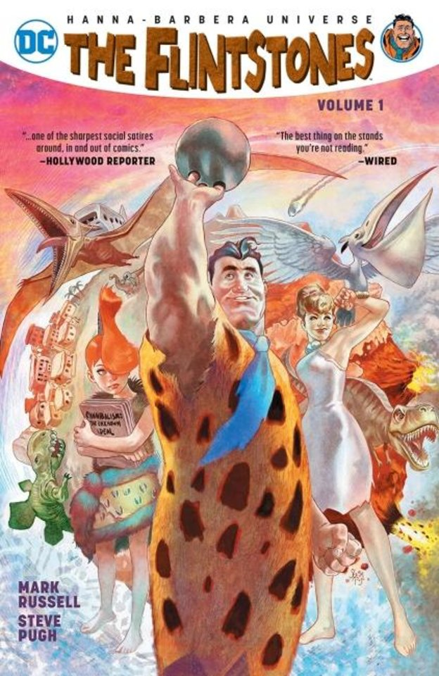 Photo -  Writer Mark Russell and artist Steve Pugh reinterpreted the Flintstones for DC Comics' line based on Hanna-Barbera animated properties. [DC Comics]