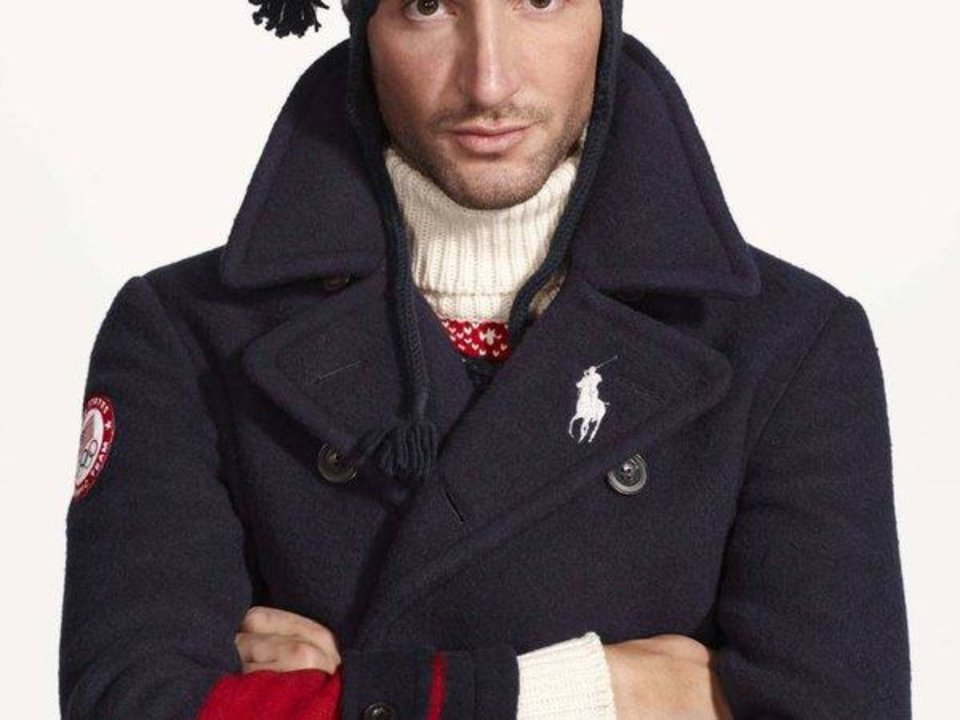 Photo -  is undated product image provided by Ralph Lauren shows a reindeer turtleneck, part of the official gear of the U.S. Olympic team. Every article of clothing made by Ralph Lauren for the U.S. Olympic athletes in Sochi has been made by domestic craftsman and manufacturers