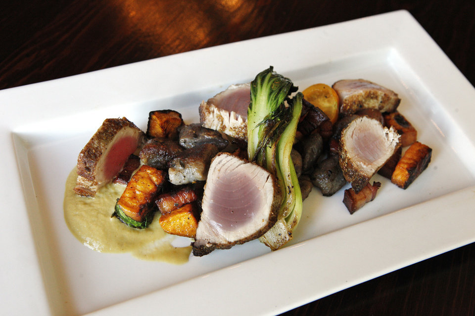 Pan-roasted Montauk tuna at Ludivine. <strong>PAUL B. SOUTHERLAND - THE OKLAHOMAN</strong>