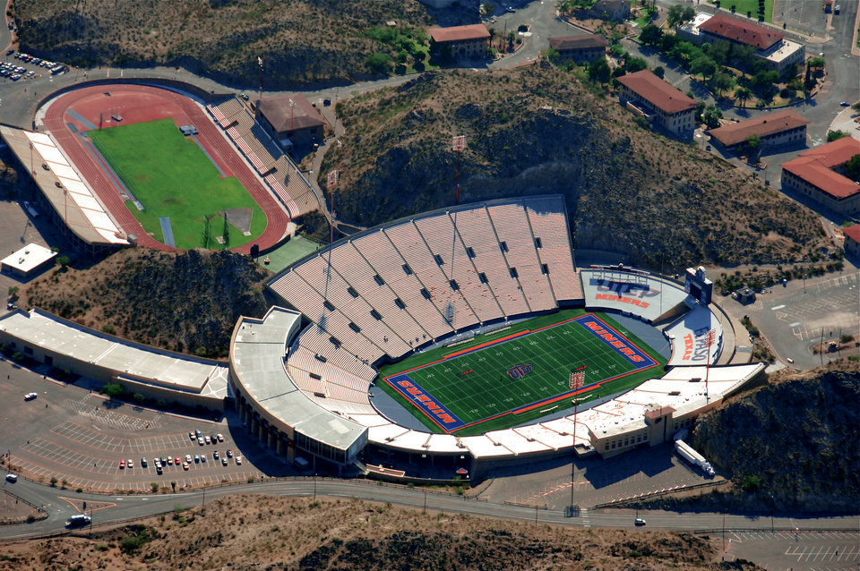 Photo - The Sun Bowl Stadium in El Paso, Texas, is seen here in a provided aerial photo.