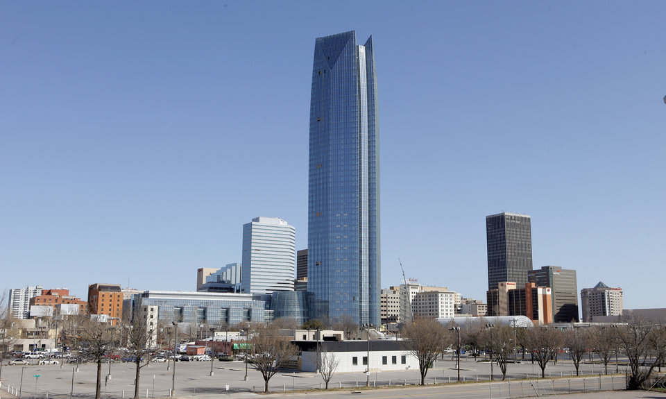 Downtown Oklahoma City�s skyline is shown in February.  Photo by Paul B. Southerland, The Oklahoman Archives