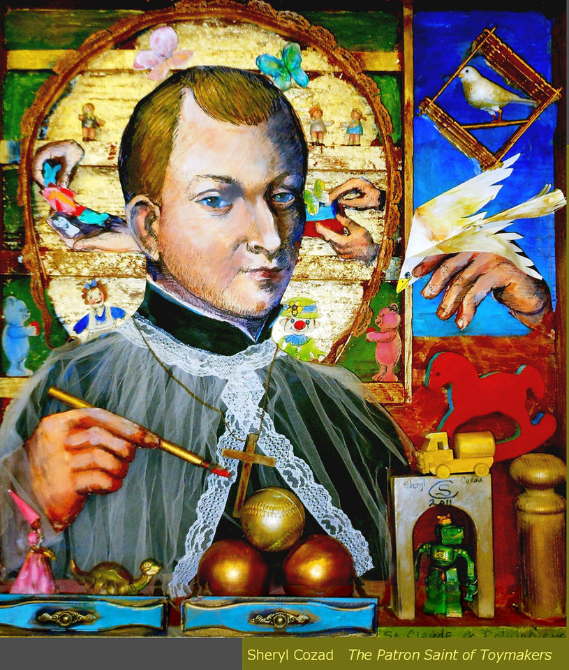 �St. Claude de la Combiere, the patron saint of toy makers,� a painting by Sheryl Cozad. Photo provided
