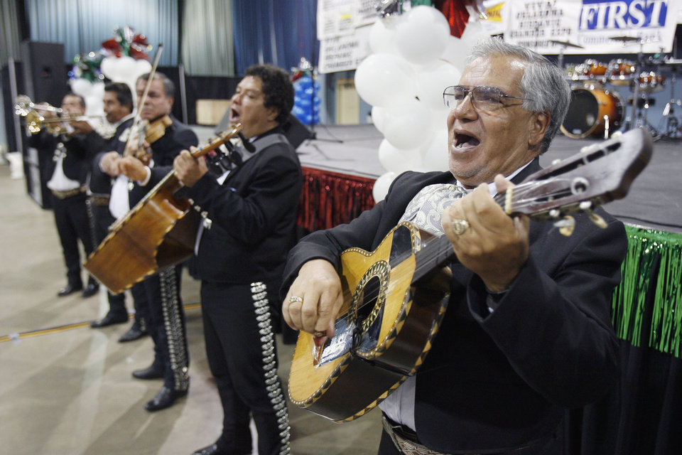 Rafael Vasquez and his fellow Mariachi band members