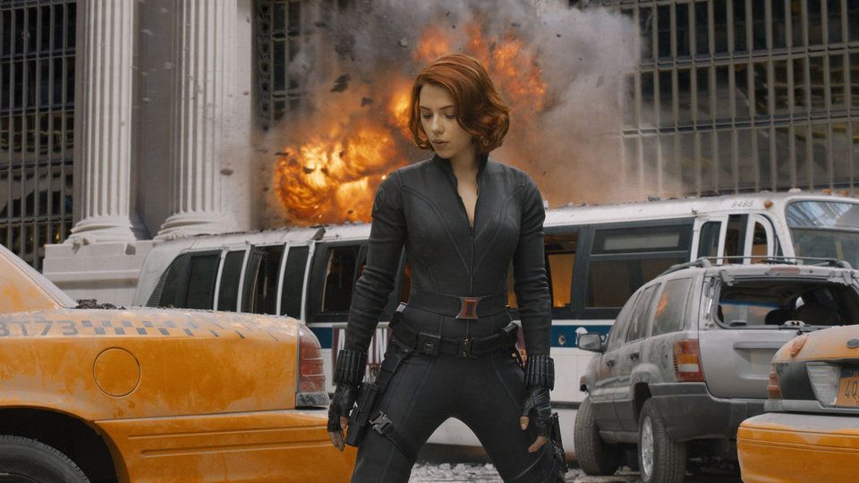 Scarlett Johansson as the Black Widow in �Marvel�s The Avengers.� Marvel PHOTO
