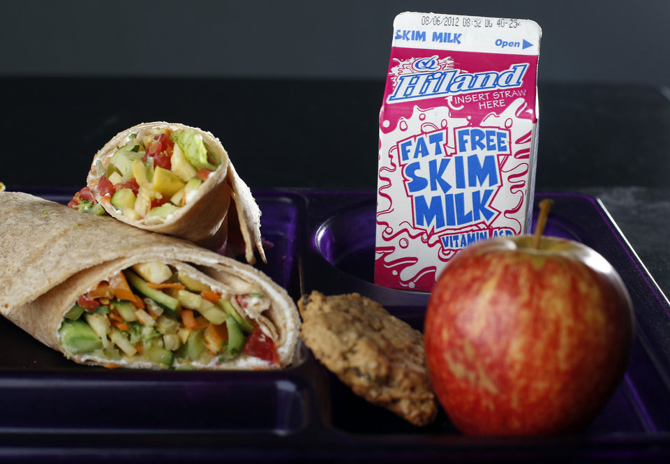 FARM TO FRESH: School lunches are pictured at the OPUBCO studio in Oklahoma City, Tuesday, July 31, 2012. Photo by Sarah Phipps, The Oklahoman.
