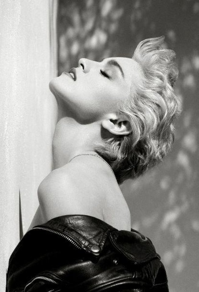"Herb Ritts' ""Madonna (True Blue Profile),"" from 1986, is featured in the new exhibit ""Herb Ritts: Beauty and Celebrity"" at the Oklahoma City Museum of Art. Photo provided by the Herb Ritts Foundation."