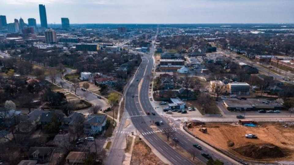 Photo -  Classen Boulevard,, from NW 16 to Western Avenue, looking south towards downtown. [DAVE MORRIS/THE OKLAHOMAN]