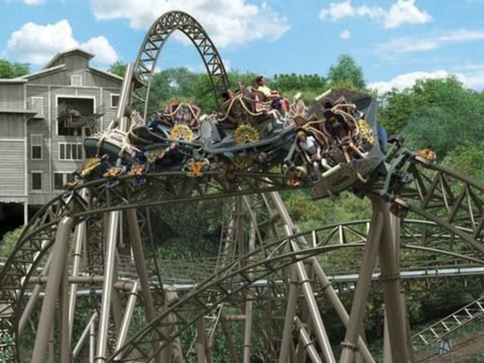 Photo - Timer Traveler, a $26 million attraction, is slated to open at Silver Dollar City in Branson next year. (Photo courtesy of Silver Dollar City)