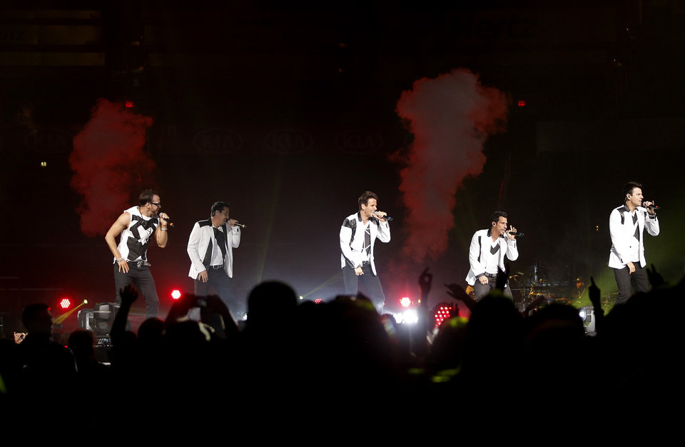 Photo - The New Kids on the Block perform during a concert at Chesapeake Energy Arena in Oklahoma City, Saturday, June 29, 2013. Photo by Bryan Terry, The Okahoman
