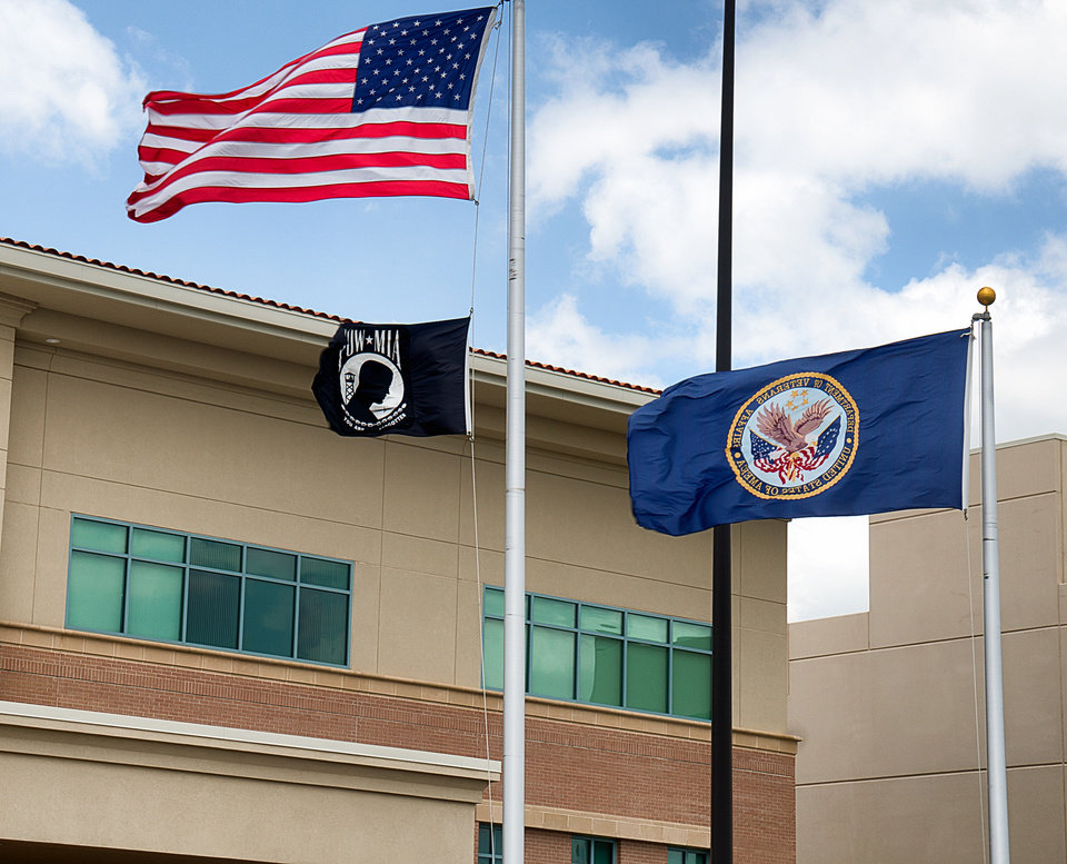 Photo - This Monday, June 9, 2014 photo shows the VA Health Care Center in Harlingen, Texas. The medical center ranks high on the list of the facilities with the longest average waits as of May 15, 2014 for new patients seeking primary care, specialist care and mental health care, according to audit results released Monday. (AP Photo/Valley Morning Star, David Pike)