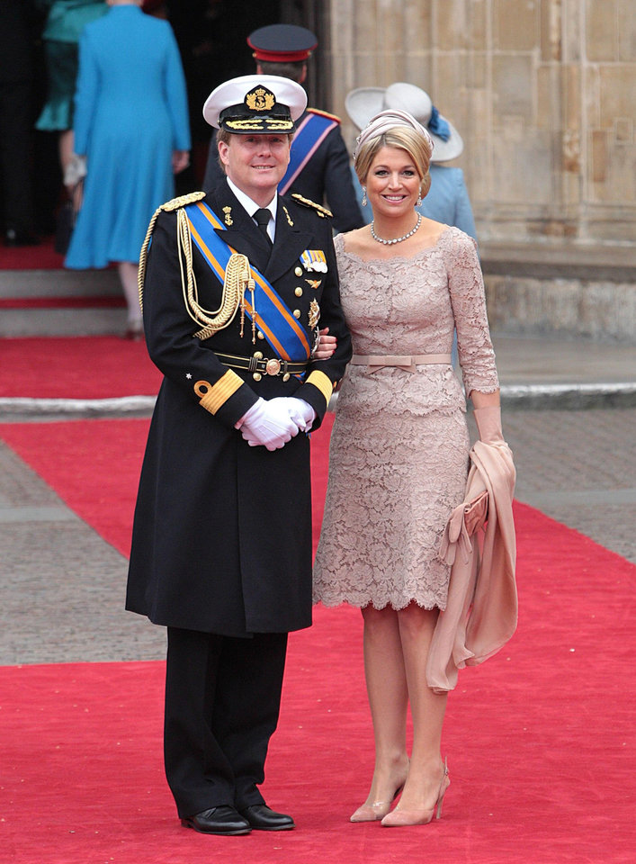 Photo - Netherlands' Crown Prince Willem-Alexander and Princess Maxima arrive at Westminster Abbey in London where Britain's Prince William and Kate Middleton will marry, Friday April 29, 2011. (AP Photo/PA, Lewis Whyld) UNITED KINGDOM OUT NO SALES NO ARCHIVE ORG XMIT: RWBJ809