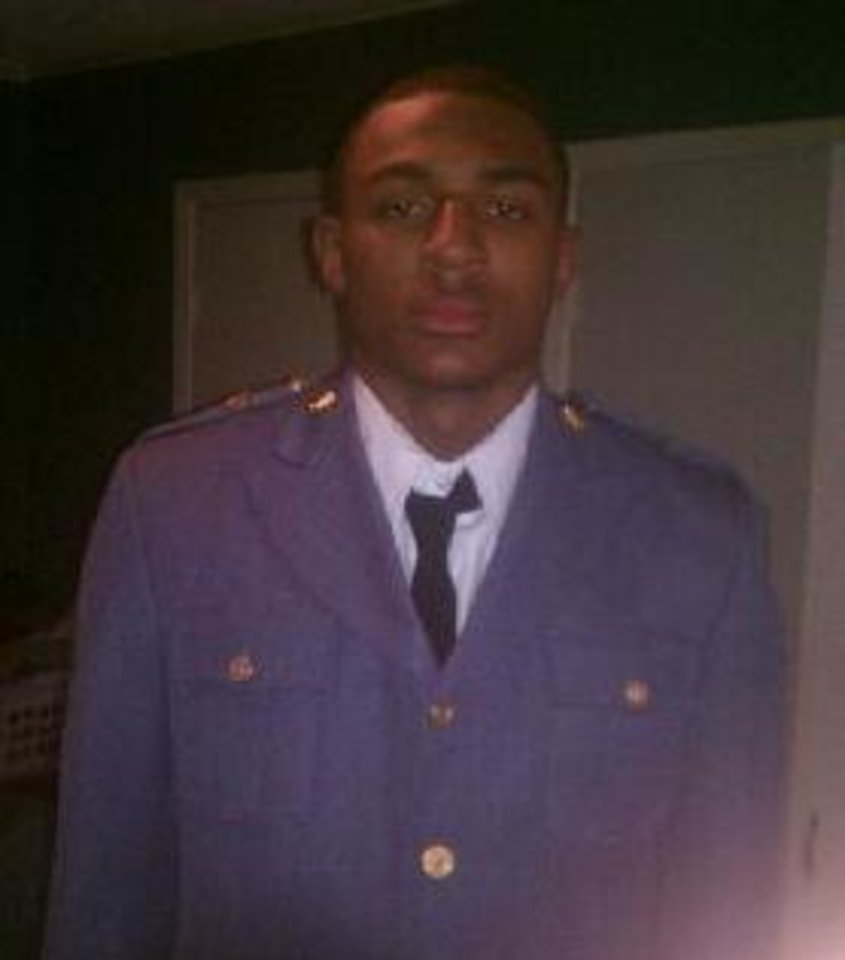 Photo - Trey Metoyer in his Hargrave Military Academy uniform. Photo provided.
