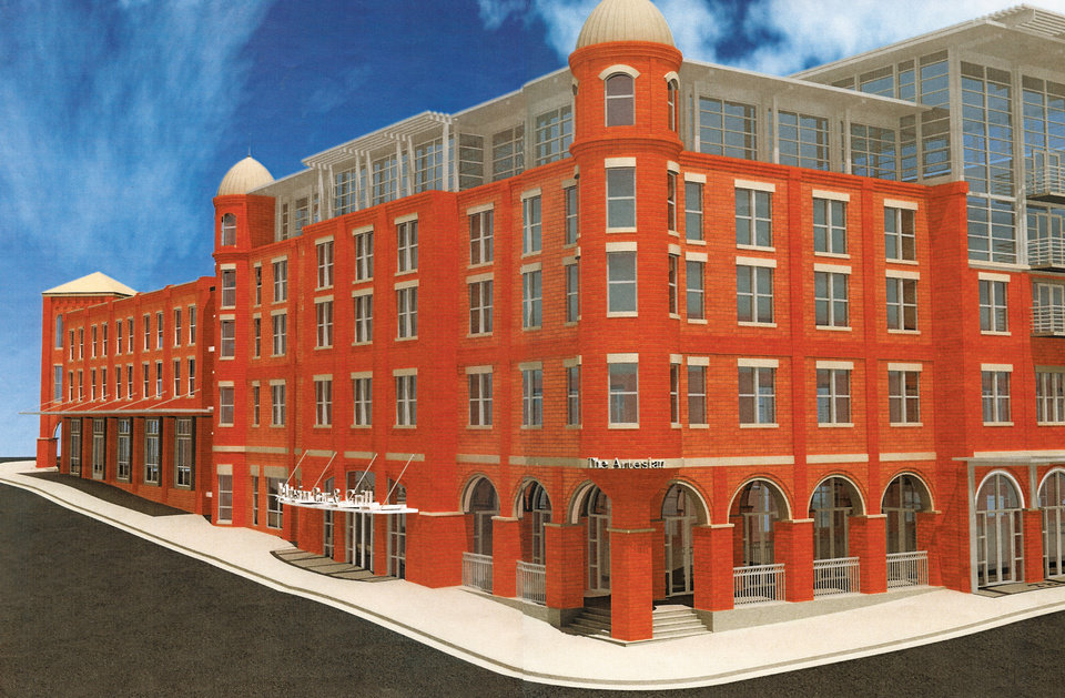 Photo - This is an earlier rendering of the Chickasaw Nation's Artesian Hotel project which won approval Feb. 16 in a vote by tribal legislators. Nearly $22 million was appropriated for the hotel scheduled for construction in Sulphur beginning in 2010. The final design will be somewhat different from the drawing. Provided by Chickasaw Nation ORG XMIT: KOD