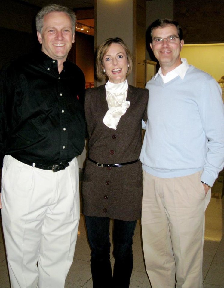 Craig Abbott, Lisa Campbell, Tim DeGiusti. - Photo by Helen Ford Wallace, The Oklahoman