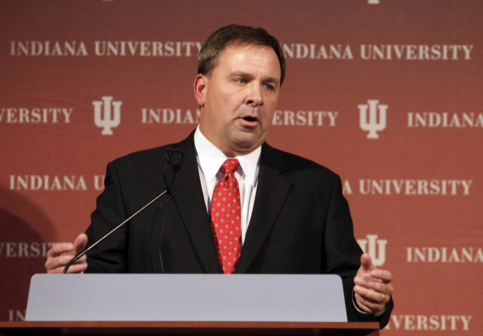 Kevin Wilson is Indiana's new football coach. AP PHOTO
