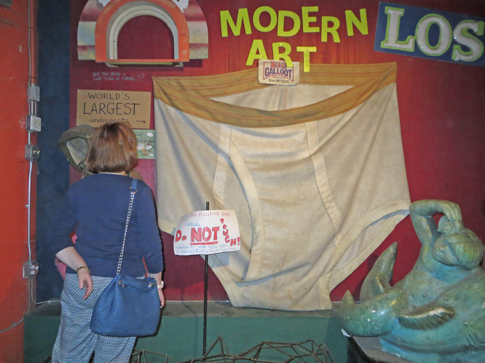 Photo -  The World's Largest Pair of Men's Underpants, one of many random oddities at City Museum.