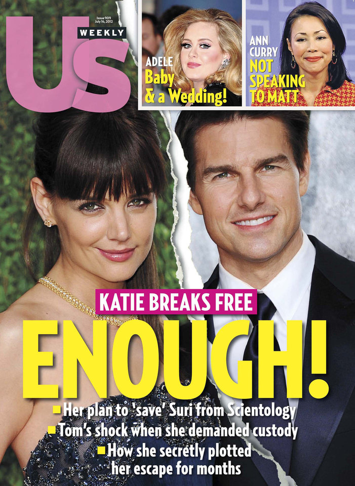 Photo -   This image released by US Weekly shows the July 16, 2012 cover of
