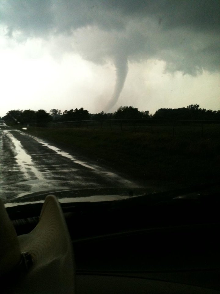 Tornado just south of Goldsby, OK (5/24/11) about 6:00pm