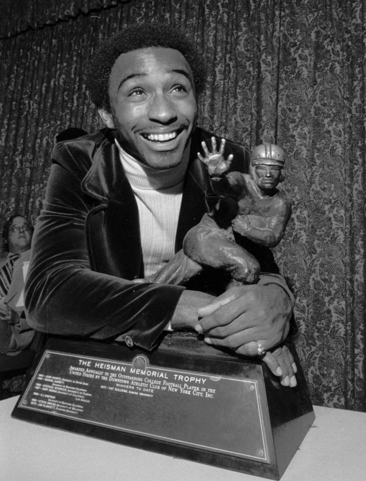 Heisman Trophy winner Johnny Rodgers of the University of Nebraska - ASSOCIATED PRESS PHOTO <strong> - Associated Press</strong>