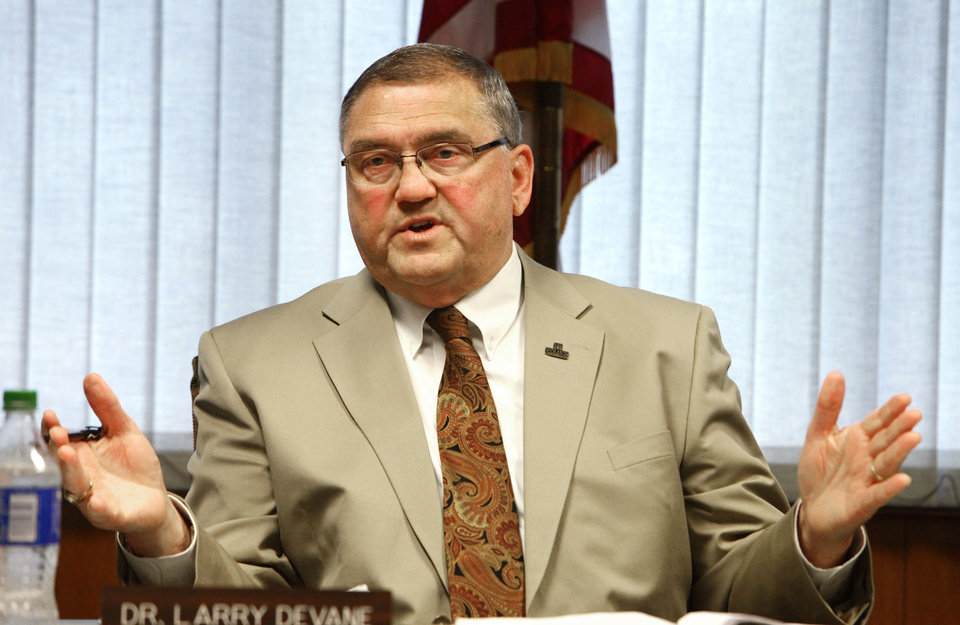 Redlands Community College president Larry Devane, whose possible termination may be discussed in executive session, Monday , June 24, 2013. Photo by David McDaniel, The Oklahoman