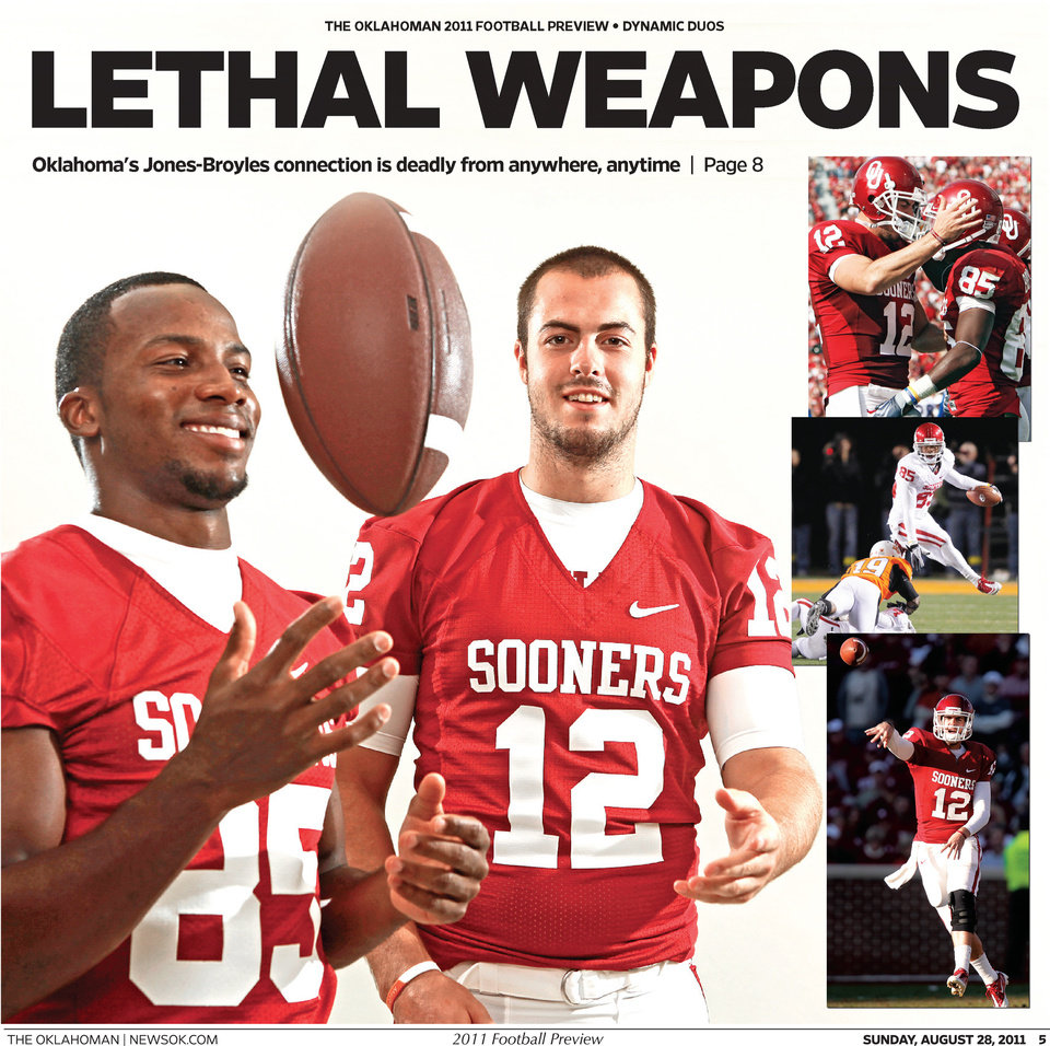 Photo - The OU cover inside the 2011 football preview.