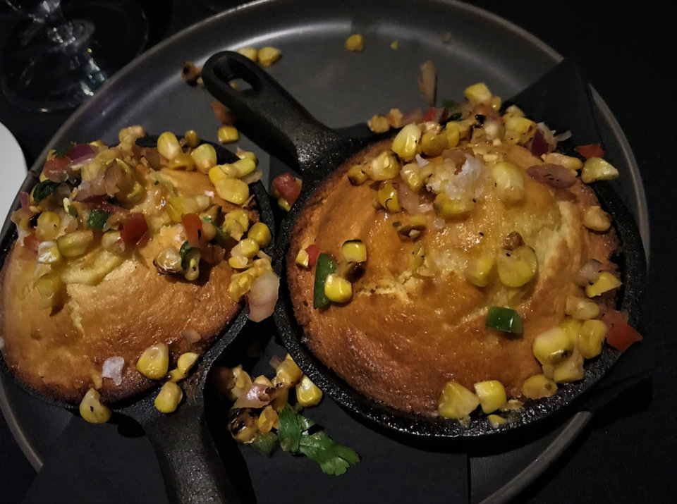 Photo -  Skillet cornbrad from The Union Wood-Fired Grill in Oklahoma City. [Photo by Dave Cathey, The Oklahoman]