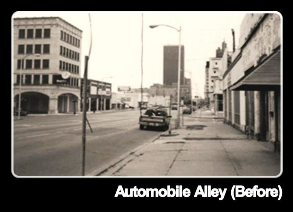 Broadway (Automobile Alley) without investment downtown.