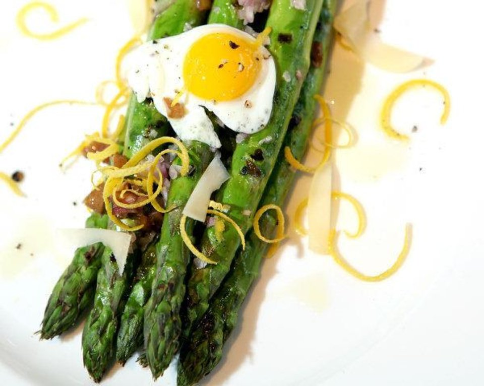 Grilled Asparagus, an appetizer, at Stella Modern Italian Cuisine in Oklahoma City. Photo by John Clanton, The Oklahoman <strong>John Clanton</strong>