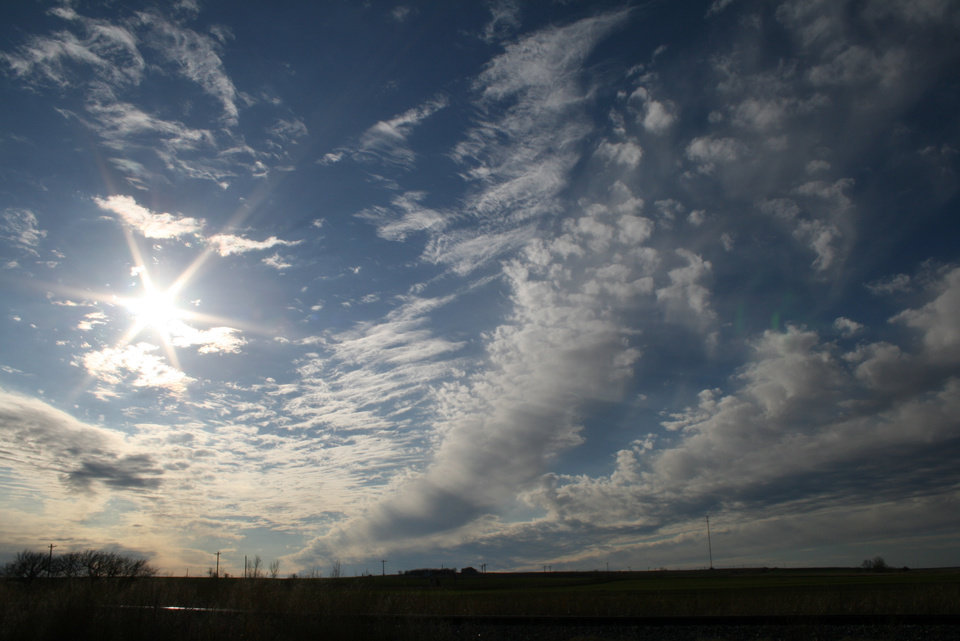 Clouds just east of Hennessey, OK on Saturday, Jan. 6th.<br/><b>Community Photo By:</b> Cindi Tennison<br/><b>Submitted By:</b> Cindi , Bethany