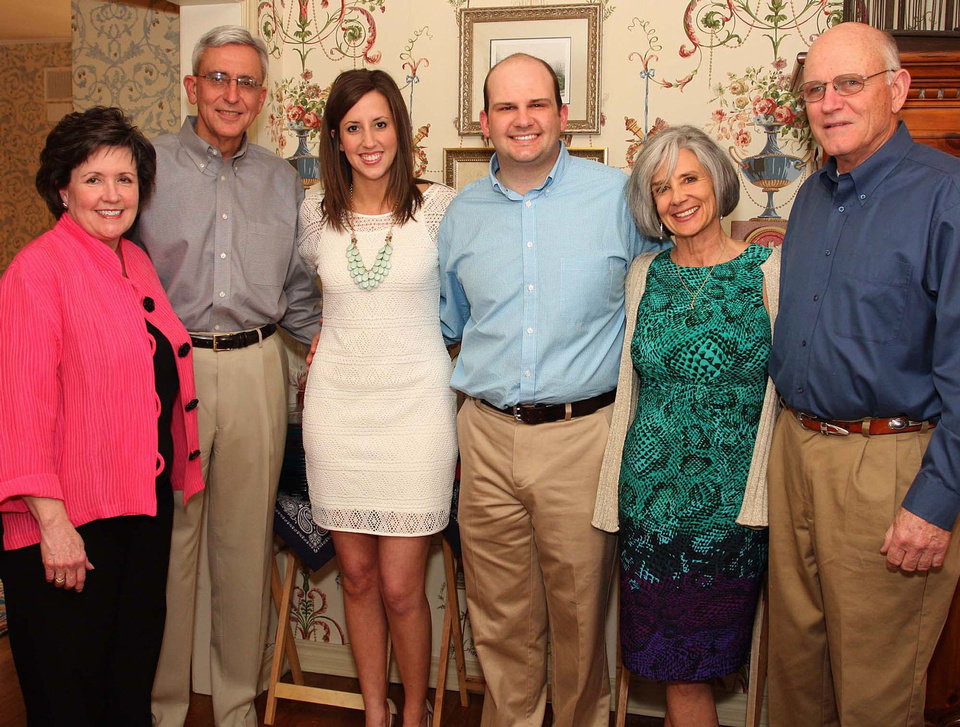 Photo - Georgeann, Bob, and Mary Dexter; Addison, Nancy, and Mike Johnston. Photo by David Faytinger for The Oklahoman__