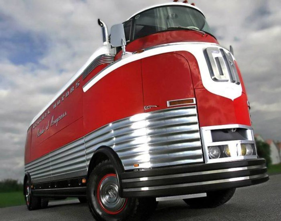 Photo - Before the Futurliner takes its place in the Auto Show it will tour the Oklahoma City streets as it did in 1955. Photo provided OKC Auto Show.