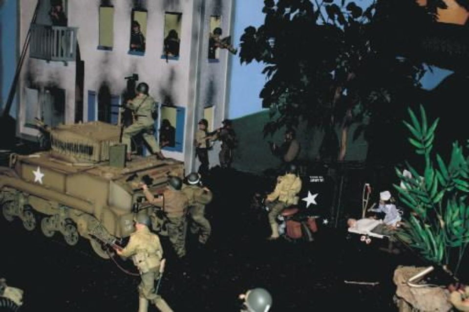 The military display at Pauls Valley's Action Figure Museum, shown here, will get a companion in a display dedicated to GI Joe: A Real American Hero.