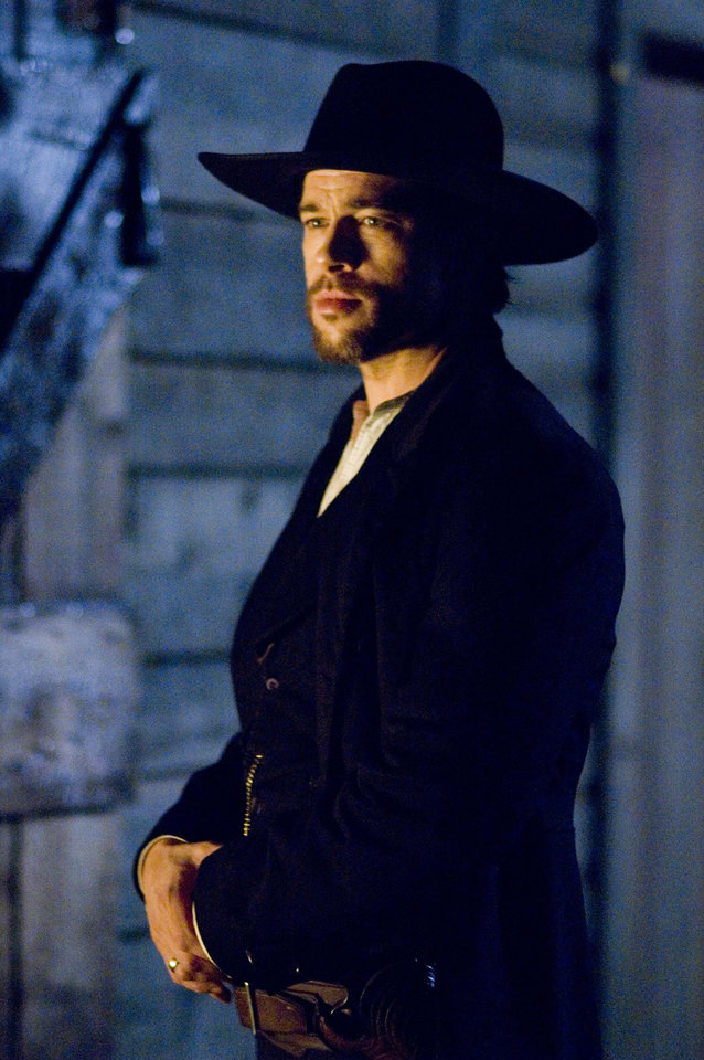 Photo -   FILE - This undated publicity photo released by Warner Bros., shows Brad Pitt as Jesse James in a scene from