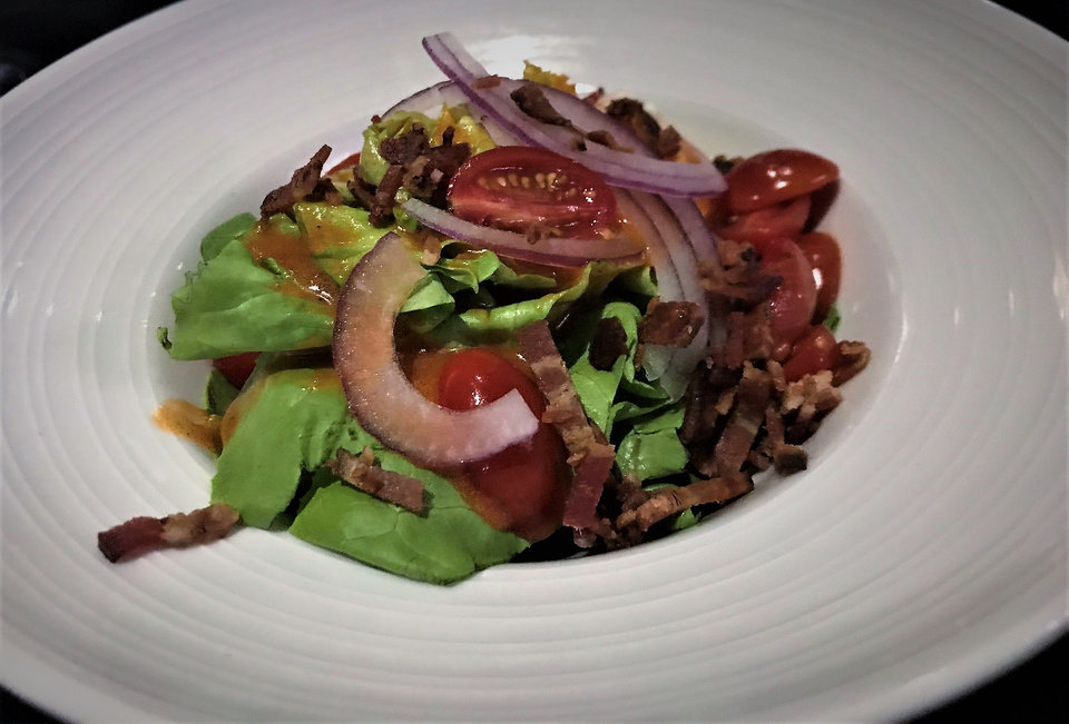 Photo -  The Union Salad from The Union Wood-Fired Grill in Oklahoma City. [Photo by Dave Cathey, The Oklahoman]