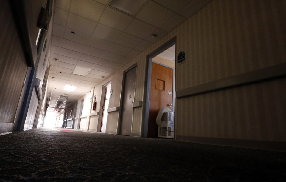 Photo -  The hospital is closed and dark in Frederick. [Photo by Steve Sisney The Oklahoman]