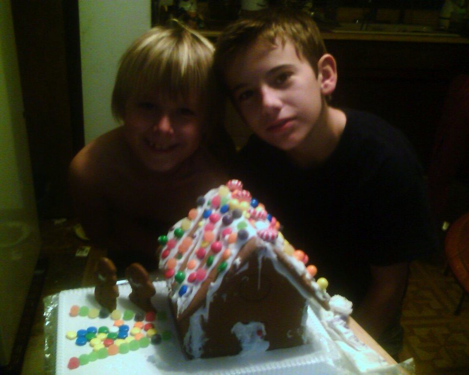 ginger bread house made by Kash and his adopted brother Jason<br/><b>Community Photo By:</b> Tama<br/><b>Submitted By:</b> Tama, Midwest