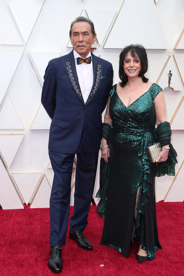Photo - Feb 9, 2020; Los Angeles, CA, USA;  Wes Studi, left and Maura Dhu Studi arrive at the 92nd Academy Awards at Dolby Theatre. Mandatory Credit: Dan MacMedan-USA TODAY