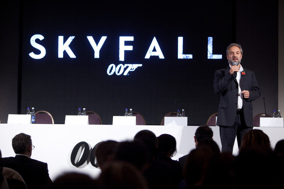 """Photo -  Eon Productions, Metro-Goldwyn-Mayer Studios and Sony Pictures Entertainment are delighted to announce the 23rd James Bond adventure """"SKYFALL"""". Pictured: Director Sam Mendes."""