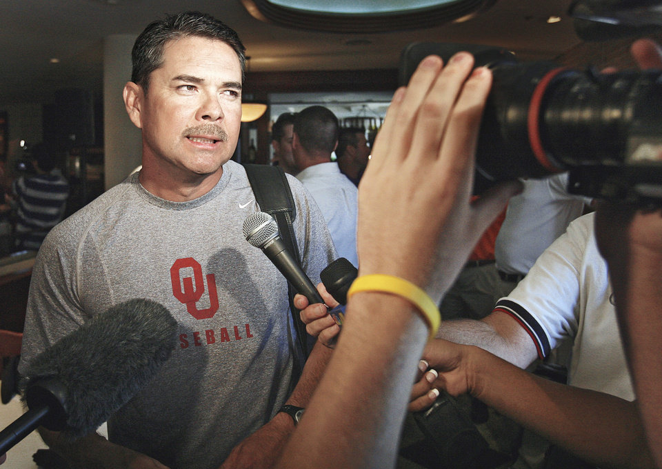 Sunny Golloway's Oklahoma baseball team visits Baylor this weekend. photo by CHRIS LANDSBERGER, the oklahoman