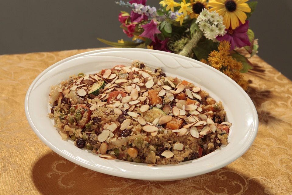 Couscous with Vegetables  and Toasted Almonds.  Photo By David McDaniel, The Oklahoman <strong>David McDaniel - The Oklahoman</strong>