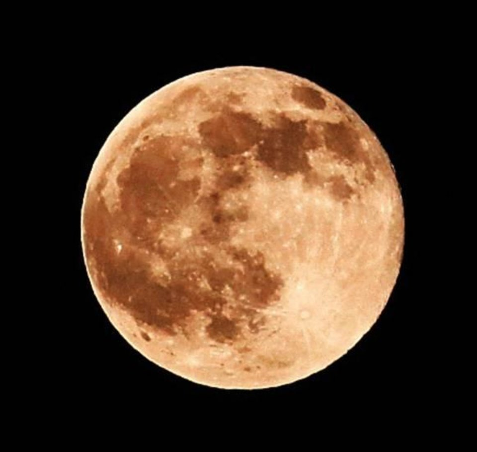 Photo - A full moon on an autumn night in Oklahoma on Nov. 21, 2010. Photo by Jim Beckel, The Oklahoman
