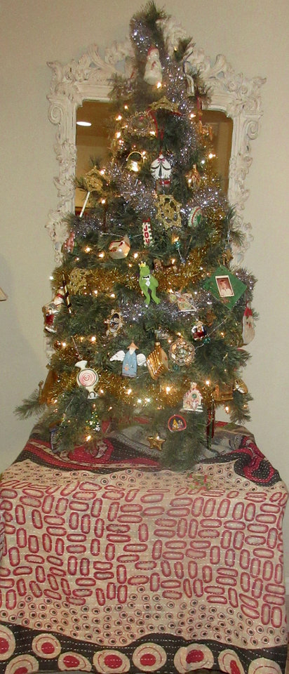 Photo -  Helen Ford Wallace's Christmas tree, decorated with ornaments that hold special meaning. [photo by Helen Ford Wallace, The Oklahoman]