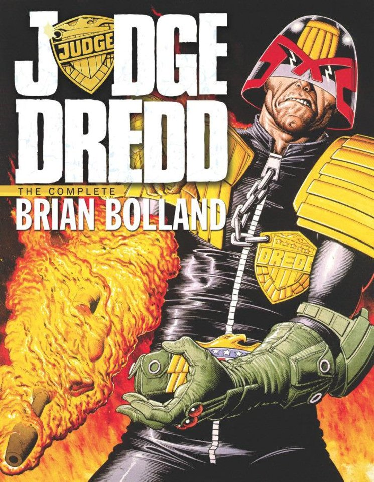 The cover to IDW's reprint book of Brian Bolland Judge Dredd stories, set for November release. IDW Publishing. <strong></strong>