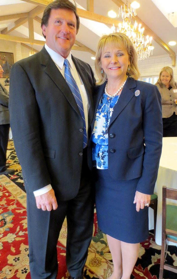 Wade Christensen, Gov. Mary Fallin. Photo by Helen Ford Wallace